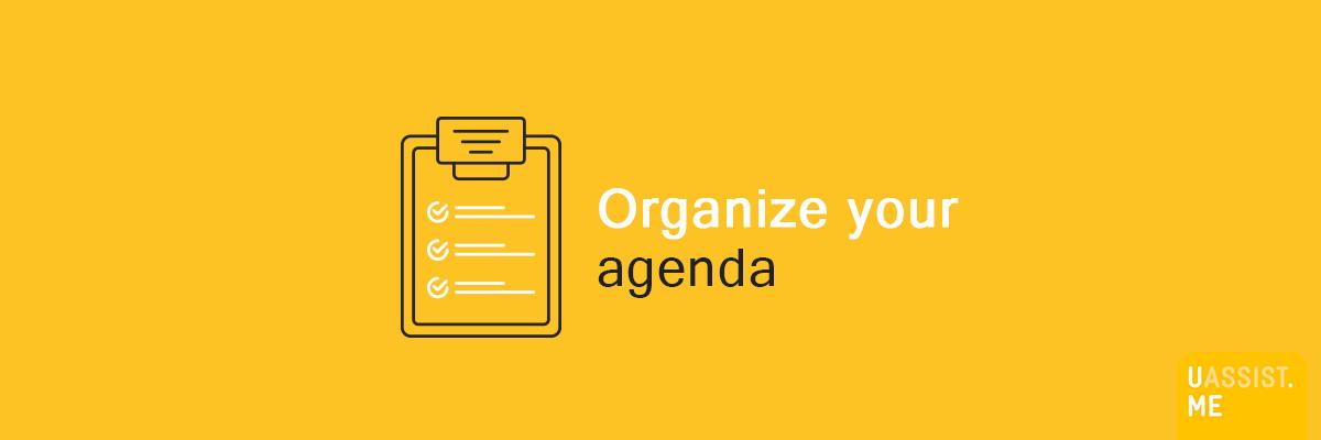 Organize your agenda - Banner v